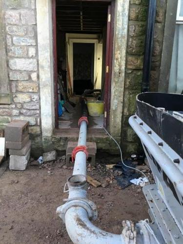 Line Pump Through House
